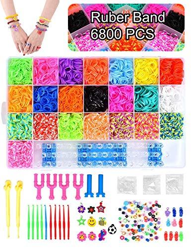 Volance DIY Pulseras Gomas, Gomas Para Pulseras de Colores 22 Colores +...