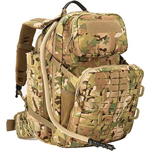 Akmax.cn 55L Militärischer Taktischer Rucksack 72H Armee Rucksack Molle Groß Rucksack 3Tagesrucksack für Camping Trekking Jagd Angeln-Multicam