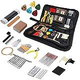 JINJIANG Kit de herramientas de guitarra de 72 piezas de mantenimiento de reparación de guitarra profesional con bolsa de transporte Juego de herramientas de cuidado grande para guitarra acústica