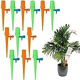 U/D Set de riego automático de 12 piezas, sistema de riego para plantas con ajustable, adecuado para la mayoría de botellas