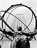 Posterazzi 1950s Statue Of Atlas At Rockefeller Center Midtown Manhattan Usa Poster Print by Vintage Collection, (11 X 14)