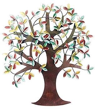 Bellaa 23455 Metal Tree Wall Decor 32 H 31 W Tree of Life