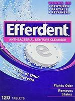 海外直送品Efferdent Efferdent Anti-Bacterial Denture Cleanser Tablets, 120 tabs