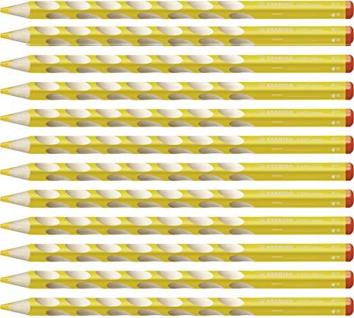 STABILO EASYcolors matita colorata per destrimani colore Giallo - Confezione da 12