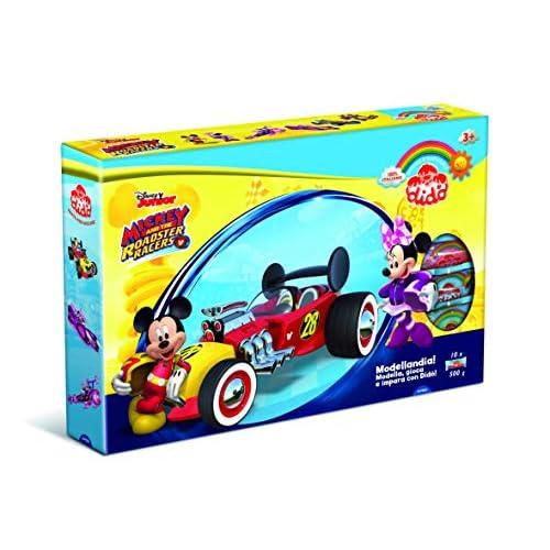 Didò- Modellandia Mickey Mouse And The Roadster Racers Pasta per Modellare e Giocare, Colori Assortiti, 345500