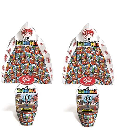 2 UOVA DI PASQUA THE AMAZING WORLD OF GUMBALL CIOCCOLATO AL LATTE CON SORPRESA, 2 X 240 GR