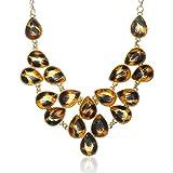 XJJSZJ Collar y Colgante de Moda para Mujer Collar de joyería para Mujer Cadena de clavículaAmarillo