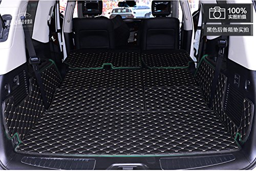 Worth-Mats 3D Full Coverage Car Trunk Mat for Infiniti QX80/QX56 (with Center Console on The 2nd Row) / Nissan Armada -Black