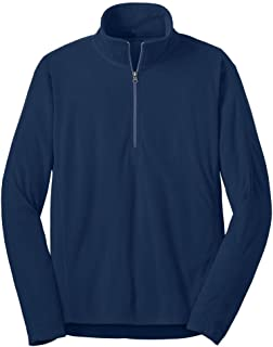 Men's Microfleece 1/2-Zip Pullover Sweatshirts in Sizes: XS-4XL
