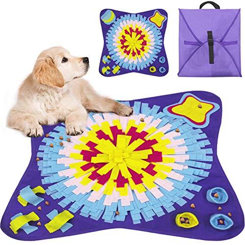 Tonsooze Schnüffelteppich Hunde Riechen Trainieren Schnüffeldecke Futtermatte, Trainingsmatte für Haustier Hunde Katzen, Waschbar Faltbar Schnüffelrasen Hund intelligenzspielzeug (70 * 70cm)