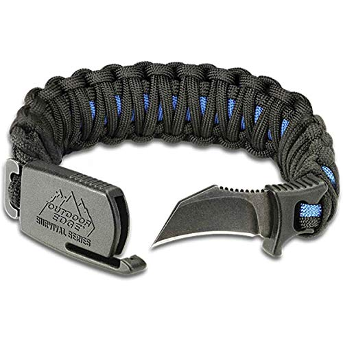 Outdoor Edge ParaClaw - Tactical EDC Paracord Knife Bracelet with 1.5