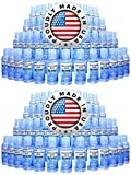 Hand Sanitizer Gel 2 oz Mini Size (Case of 100) with Flip Top Cap by EmUrgent USA - 70% Ethyl Alcohol - FDA Registered - Proudly Made In USA - Small Individual Personal Pocket 2 Ounce Travel Size Bulk