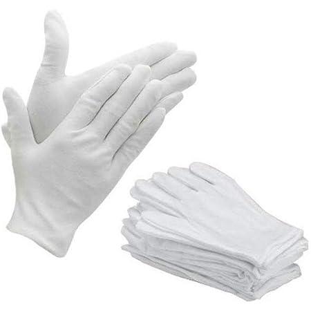 Bon Organik Premium Quality Washable Reusable Cotton Hand Gloves Bundle (Pack Of 10)