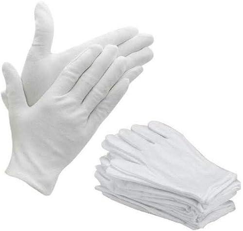 Bon Organik Premium Quality Washable Reusable Cotton Hand Gloves Bundle Pack Of 10