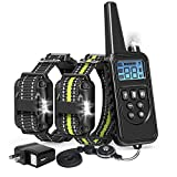 Veckle Dog Training Collar, Waterproof Rechargeable Shock Collar for Dogs 2600ft Dog Shock Collar with Remote, LED Light, Beep, Vibration, Charger, Dog Collar for Large and Medium Dogs
