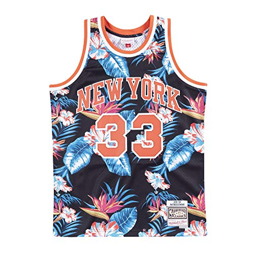 Mitchell & Ness Floral Swingman Jersey N.Y. Knicks - P. Ewing, Floral, XL