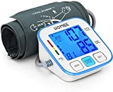 HOMIEE Blood Pressure Monitor with 3.5 Inch Backlight LCD Display, Upper Arm Blood Pressure Machine 9-14 Inch Cuff, Digital BP Meter 2 Users 180 Memories Automatic Off, Ideal Gift for Mom & Dad, Blue