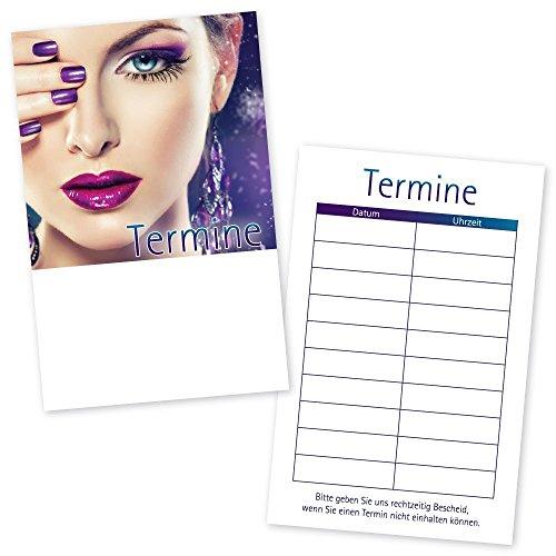 500 Kosmetikstudio – Terminkarten STYLING mit 10 Terminfeldern