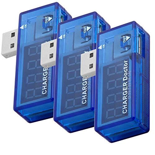 AZDelivery 3 x Charger Doctor USB Misuratore Consumo Energetico Misuratore di tensione incluso un Ebook!