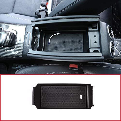 Compatible con Benz A Class W177 A180 A200 2019 2020 Interior del automóvil Consola central Reposabrazos Caja de almacenamiento MB B Class W247 2019 2020;Consola Organizador Bandeja Estuche Compati