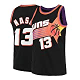 Men's Nash Shirts Jerseys 13 Basketball AdultSports Athletics Retro Steve Black (Black, X-Large)