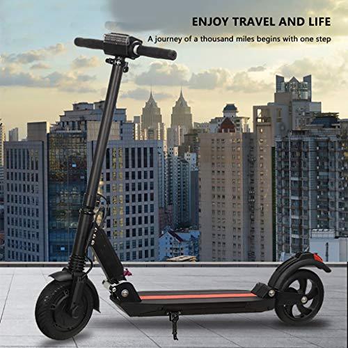 L9WEI - Patinete eléctrico plegable de aluminio para jóvenes, hasta 30 km/h, patinete eléctrico, patinete eléctrico, patinete eléctrico (negro)