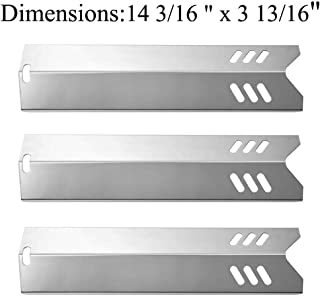 Htanch SN1581(3-Pack) Stainless Steel Heat Plate Replacement for Backyard Grill GBC1406W-C, Uniflame GBC1030W, GBC1030WRS, GBC1030WRS-C, GBC1134W, GBC1134WRS (14 3/16 X 3 13/16)