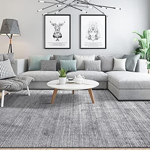 YLBH Moderno y simple sofá y mesa de café, alfombra ligera de alta calidad de la sala de estar, alfombras nórdicas del piso del dormitorio y alfombras del hogar 200 cm × 300 cm K