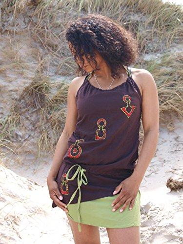 Jashu Trendiges Sommerkleid Gr 40/42 (XL) im Ethnostyle (Damentunika)