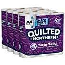 Quilted Northern Ultra Plush Toilet Paper, Extra Wide Rolls, 3-ply Bath Tissue, White, 9 Rolls, Pack of 4