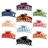 Magicsky 10PCS Large Hair Claw Clips, Nonslip Matte Plastic/ Resin Hair Catch Teeth Clamp, 4.3 Inch Strong Hold Banana Keel Barrettes for Thick and Thin Hair-Fashion Accessories for Women Girls
