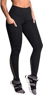 Qootent Yoga Pant Workout Leggings Solid Pocket Trouser Fitness Sport Sweatpant