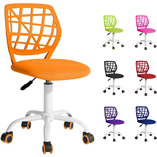 Beltom Sedia ergonomica da scrivania cameretta Computer casa Studio Ufficio Studenti Adolescenti, Ideale per Bambini. Regolabile in Altezza e Girevole a 360° - Arancione
