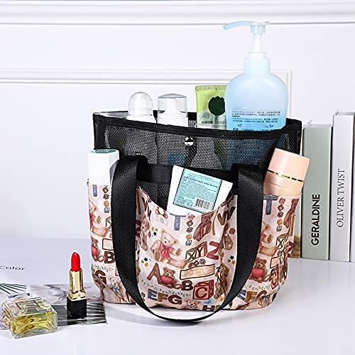 Wilany Sac à main organiseur de sac à main avec insert et doublure de voyage, poches de rangement pour cosmétiques, sac à langer pour filles, trousse de maquillage florale