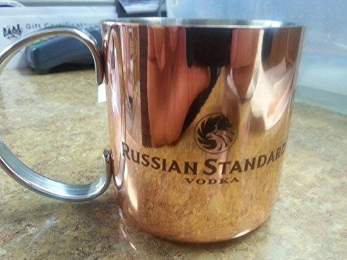 Set of 2 Russian Standard Vodka Copper Moscow Mule Mugs Cups