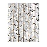 Duschvorhang Marmor,Geometrie Muster Duschvorhang Für Geburtstag,Hochzeitsfeier Einsetzbar,2 × 1,8 M