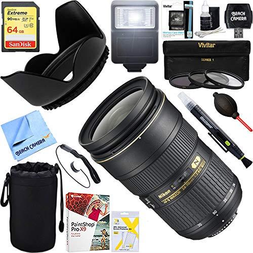 Nikon (2164 AF-S NIKKOR 24-70mm f/2.8G ED Lens + 64GB Ultimate Filter & Flash Photography Bundle