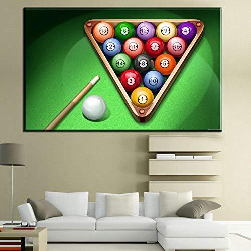 yiyitop Rahmenlose Riesige Moderne Mode Amerikanischen Billard Snooker HD Fotografie Leinwand Ölgemälde Poster Wandbild Wohnzimmer 50x70 cm