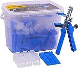 Sistema di livellamento per piastrelle, confezione Starter, 1 mm, strumento per la posa de...