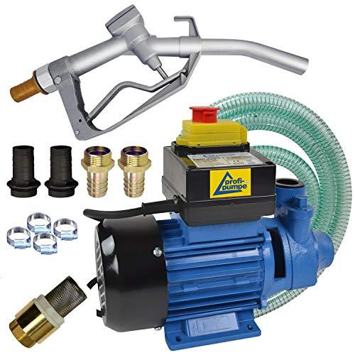 Dieselpumpen Heizölpumpe Biodiesel elektrische Kraftstoffpumpe Ölpumpe Fasspumpe Dieselpumpe Umfülpumpe Selbsansaugend mit Zapfpistolle, Dieselschlauch Set Diesel Profi 600-4