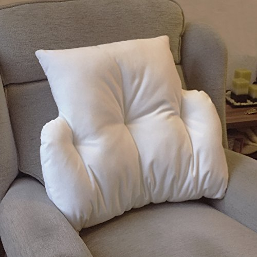 Superior Comfort Velour Fleece Lumbar Back Support Cradle Cushion Made by Bedding Direct UK in Britain
