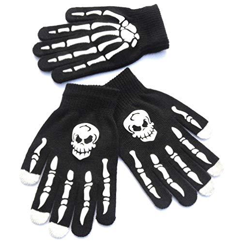Amosfun 1 par de guantes de pantalla táctil de estilo punk a...