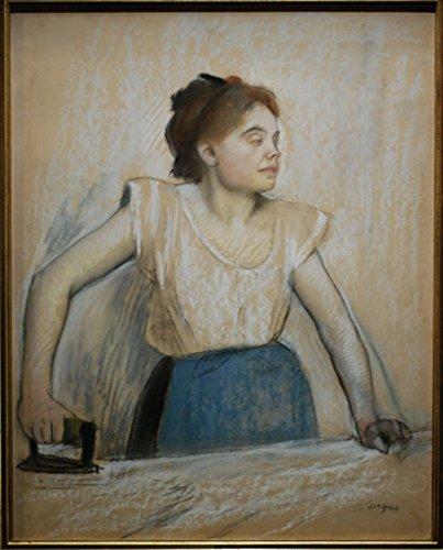Spiffing Prints Edgar Degas - Degas La Repasseuse - Extra Large - Matte - Brown Frame