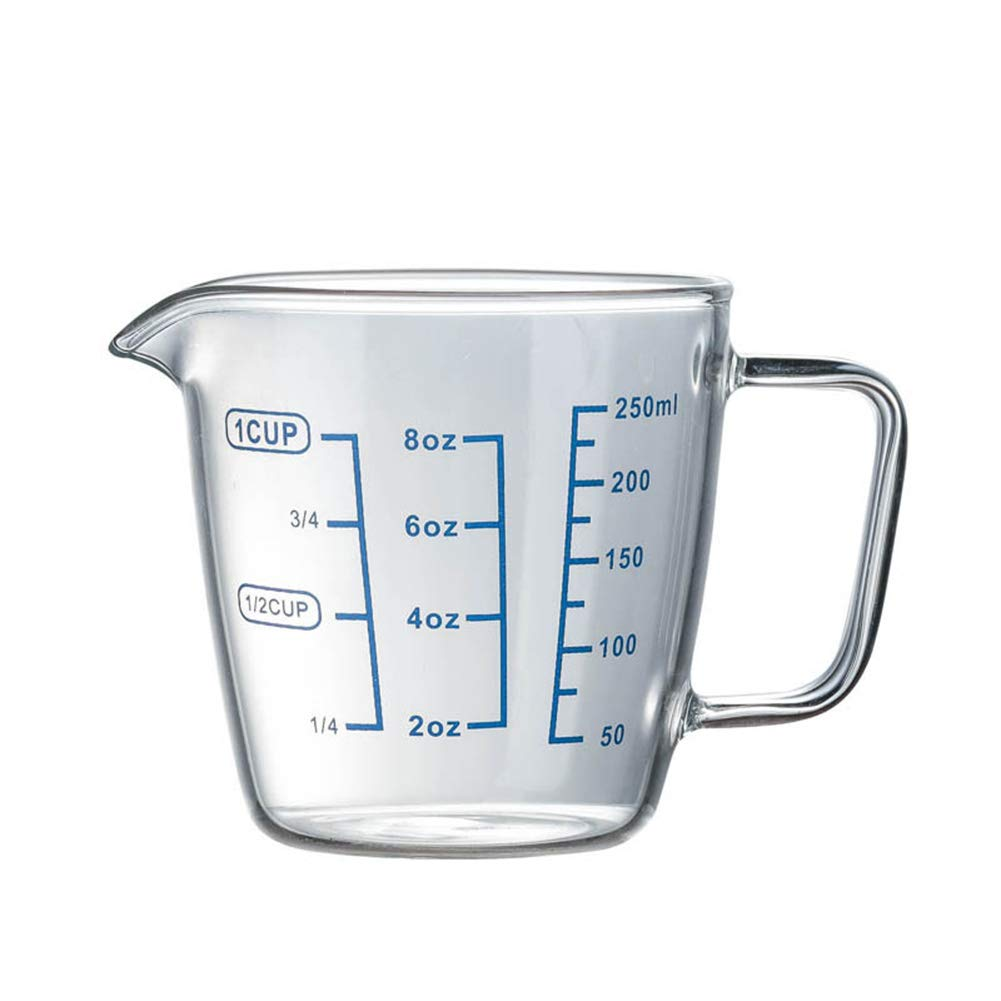 20 Cup glass measuring cup with Measurements, 20ML Milk Cups 20 oz ...