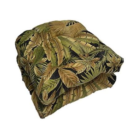 "TOMMY BAHAMA set of 2 Gold 20/"" X 20/"" Indoor//Outdoor tufted U shaped cushions NWT"
