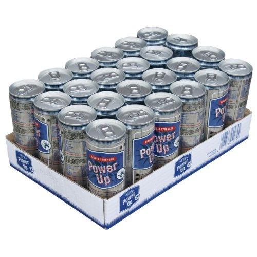 Power Up Energy Drink Dose, Energydrink, Energie, mit Taurin und Koffein, ohne Konservierungsstoffe, 24er Pack. 24 x 0,25 l