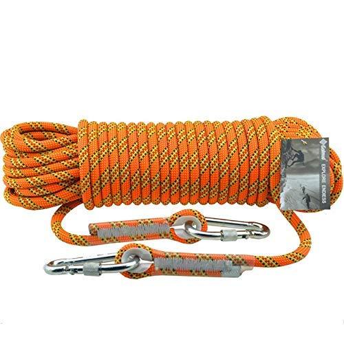 ZSM Electrostática diámetro de 11 mm Cuerda de Escalada Longitud de la Cuerda 10/20/30/40/50/60/70/80 / 90m pies de Altura Cuerda Anaranjada casa de Emergencia Cuerda Que Sube por Cable YMIK