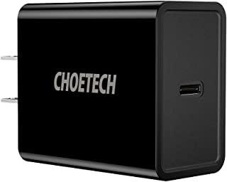 USB C Charger, CHOETECH 18W USB Type C Wall Charger with Power Delivery Compatible with iPad Pro, Pixel, iPhone Xs Max Xs Xr 8 8 Plus X, Samsung Galaxy Note 9/8 S10 S9 Plus, Nintendo Switch, etc