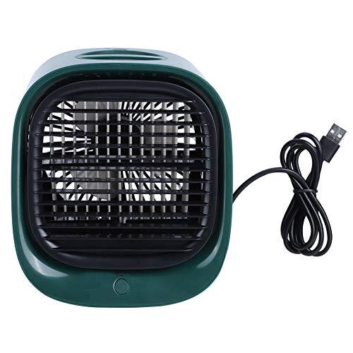 Cerlingwee Ventilador de enfriamiento, Enfriador de Aire USB ABS 3 velocidades Disponibles Luz Nocturna Colorida Luces de Colores LED Ventilador Enfriador de(Moran Green)