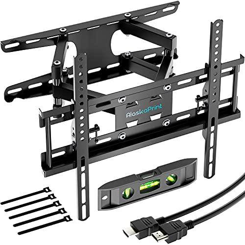 TV Wandhalterung Fernseher wandhalterung Schwenkbar Neigbar TV Halterung für 20-60 Zoll Flach & Curved LCD LED, Monitor(58-140CM) bis zu 50kg, max.VESA 400x400